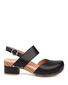 Dansko: Malin in Black Dansko Shoes, Clogs Shoes, Open Toe Sandals, Black Sandals, Women's Sandals, Block Heels, Fashion Shoes, Sandals Outfit, Stilettos