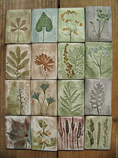 Stoneware Herb Magnets on NS Pottery. These look imprinted, very nice! – Kee Cre… Stoneware Herb Magnets on NS Pottery. Clay Projects, Clay Crafts, Arts And Crafts, Clay Tiles, Ceramic Clay, Ceramics Tile, Ceramic Tile Art, Slab Pottery, Pottery Art