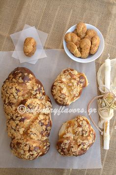 Sweet Easter Bread and Easter Cookies (Tsoureki and Koulourakia)