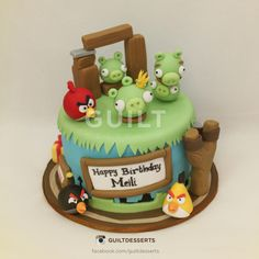 Angry Bird cake - Cake by guiltdesserts