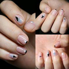 minimal nail art design | negative space nail art ideas | minimalist