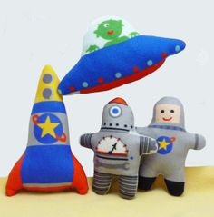 Doll Kit Robot, Astronaut, Flying Saucer