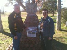 Bob and me at Geronimo's grave