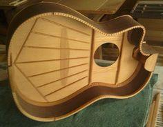 Inside the G8 hybrid guitar.
