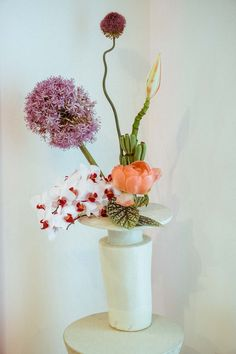 Flowers by Brittany Asch of Brrch Floral in the Glossier Showroom