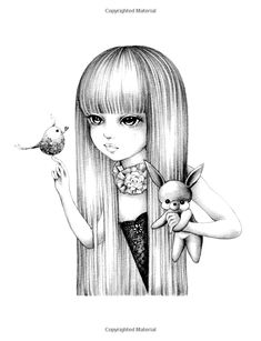 Color My Art: Surreal Fantasy: Grayscale & Underpainting Coloring Book People Coloring Pages, Adult Coloring Book Pages, Cool Coloring Pages, Colouring Pics, Coloring Books, Easy Drawings Sketches, Girl Drawing Sketches, Cute Drawings, Mindfulness Colouring