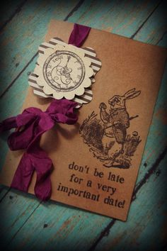 Alice in Wonderland invitations / bridal by ShabbyCountryChic, $3.25