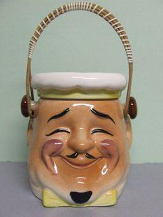 Chef/Baker/Cook Head Cookie Jar (Japan)