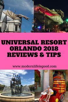 Universal Orlando 2018 Review and Tips including video tours of the resort. #universal #universalorlando #universalstudios #islandsofadventure