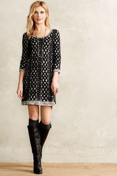 Sweaterstiched Tunic Dress - anthropologie.com #anthrofave