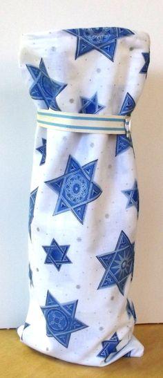 Hanukkah Wine Bag Handmade Star Of David Holiday by SoraCreations, $6.75