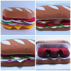 Felt Food Pattern Felt Sub Sandwich Pattern por ThePixiePalace