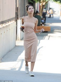 Work it: Even on a casual coffee run in Los Angeles on Friday, Emily Ratajkowski…
