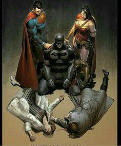Helping Batman through his crisis.