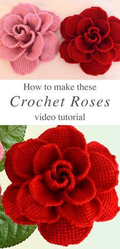 Learn making lovely crochet roses crochet bow with beads Roses Au Crochet, Crochet Daisy, Love Crochet, Thread Crochet, Beautiful Crochet, Crochet Crafts, Easy Crochet, Crochet Stitches, Crochet Projects