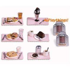 American Girl Miniature   Lil/'s Diner DONUT COFFEE SUGAR   AG Mini ILLUMA ROOM