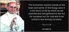 pope francis eucharist quote - Google Search