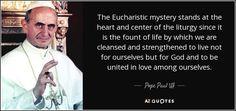 pope francis eucharist quote - Google Search
