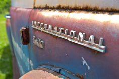 Rusty International Truck by sean michael bishop, via Behance