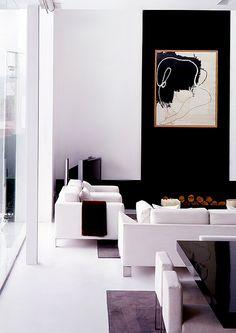 Modern  Living room  / interior design & decor / black & white