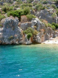 Past adventure: Swim in the Mediterranean in Kas, Turkey.