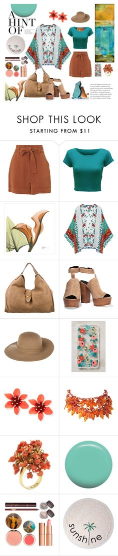 """""""Kimono"""" by giselsimon ❤ liked on Polyvore featuring Whistles, WearAll, Gucci, Rebecca Minkoff, Armani Jeans, Rifle Paper Co, Jin Soon, Charlotte Tilbury and Lolli Swim"""
