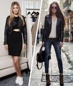 leather-jacket-street-style-gigi-hadid-animal-print-shoes-lapis-skirt