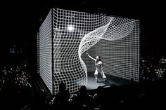 Dancer bends light