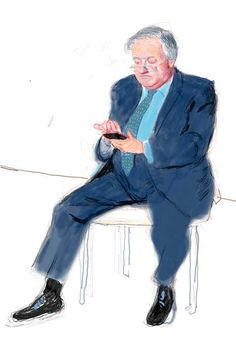 David Hockney ipad drawing of artists brother