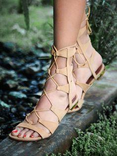 Free People Lina Lace Up Sandal