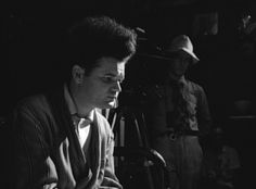 Jack Nance and David Lynch on the Eraserhead set.
