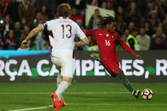 Portugal's midfielder Renato Sanches from Portugal during the Portugal v Latvia FIFA 2018 World Cup Qualifier match at Estadio do Algarve on November...