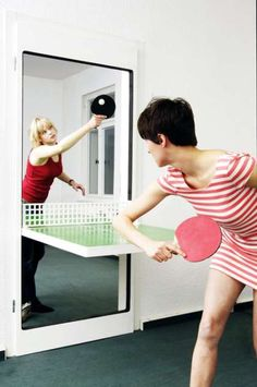 Convertible Door + Ping Pong Table from Trend Hunter  #smallspaceorganization #smallspacedecor trendhunter.com