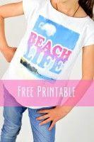 "Free Printable ""Beach Life"" für tolle Sommershirts"