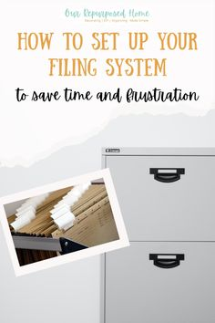 How to set up a filing system to save time and frustration Bedroom Organisation, Kitchen Organisation, Home Office Organization, Organizing Paperwork, Organizing Life, Declutter Your Life, Organized Mom, Home Management, Filing System
