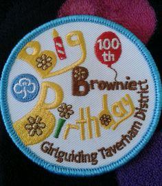 Brownies Birthday challenge PR adventure nights away birthday badges PRICE EACH