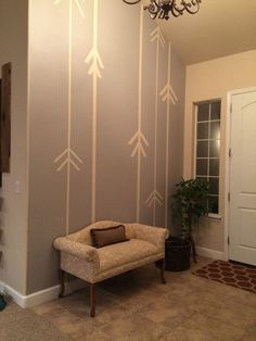 accent arrow wall inspiration, decorating with painters tape