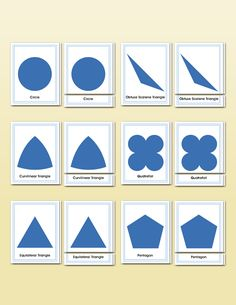 Geometric Cabinet Shapes Matching | Montessori Research and Development