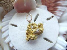 Natural Australian Gold Nugget 23k Gold Pendant 6.54 grams