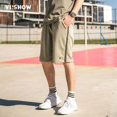 FuzWeb:VIISHOW NEW Summer Mens Shorts Casual Short Brand Clothing Men Zip Size Shorts Men Knee Length Shorts KD1273172