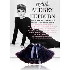 """SK:štýlová AUDREY HEPBURN  Ikona sukní, čierna sukňa pre klasické Dolly dievča """"Každý môže vyzerať ako Audrey. Stačí si vypnúť vlasy,kúpiť si veľké slnečné okuliare a obliecť si čierne šaty."""" Podľa módnej ikony Audrey Hepburn"""