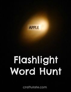 Flashlight Word Hunt - a seriously fun game for kids to play in the dark!