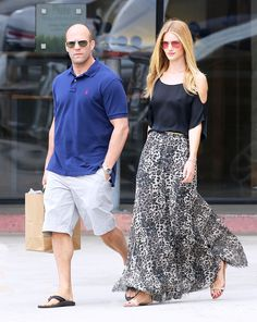 Rosie Huntington-Whiteley style lessons: break up leopard print with a bold black top