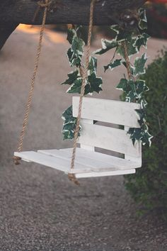 Bench Swing Prop - Distressed Vintage White - Newborn photography prop, newborn swing prop, wooden photo prop