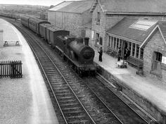 No 50 arrives at Ballyshannon from Bundoran on Republic Of Ireland, The Republic, Emerald Isle, Donegal, Model Trains, Northern Ireland, Old Pictures, Locomotive, Railroad Tracks