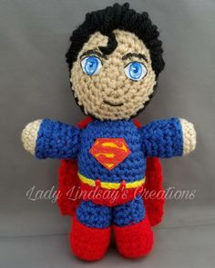 💥New Design💥 Superman amigurumi . Link in pic . #Superman #ClarkKent #amigurumi #plush #plushie #crochet #handmade #handcrafted #handpainted #comicbook #JusticeLeague #Injustice #nerd #geek #otaku #anime #gamer #videogame #PS4 #Playstation #Nintendo #Art #ShopSmall #SmallBiz #Love #PicOfTheDay