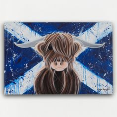 One day I will have this!! Jennifer hog wood highland cow canvas.