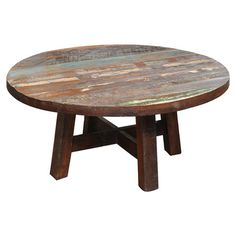 Distressed reclaimed wood coffee table.   Product: Coffee tableConstruction Material: Reclaimed woodC...