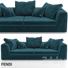 Fendi casa prestige sofa Model in Sofa Corner Sofa Chaise, Couch, Luxury Sofa, Luxury Interior, Viva Luxury, Sofa Styling, 3d Models, Modern Sofa, Sofa Furniture