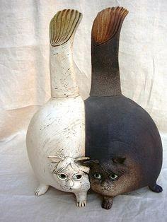 Igel aus keramik von werkeltreff auf ideen rund ums haus pinterest - Keramik katzen fur garten ...